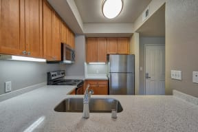 Gourmet Kitchens with Dishwasher and Disposal at Villa Montanaro, California