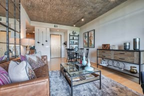 Large living rooms at IO Piazza by Windsor, Arlington, 22206