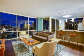 Open-Concept Floor Plans at Flair Tower, 222 W. Erie Street, Chicago