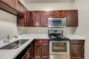 Fully-Equipped Kitchen With Stainless Steel Appliances at Pavona Apartments, San Jose, California