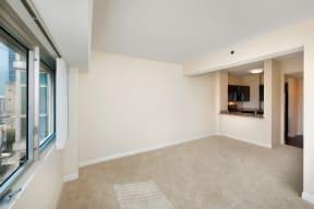 Plus Carpeting in Living Room at Renaissance Tower, Los Angeles, California