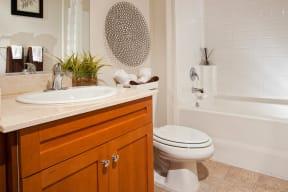 Marble Bathroom Countertops at Windsor Lofts at Universal City, Studio City, CA