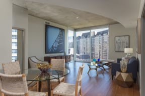 Floor-To-Ceiling Windows Offer Stunning Views at Glass House by Windsor, Dallas, 75201