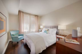Lavish Bedroom With Large Window at The Woodley, 2700 Woodley Road, NW, Washington, District of Columbia