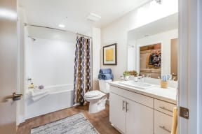 Luxury Bathroom with Frameless Mirrors at Malden Station by Windsor, 92832, CA