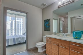Spa-Inspired Bathrooms at Glass House by Windsor, Texas, 75201