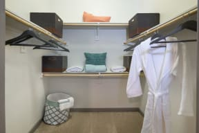 Walk-In Closets with Built-In Shelving at Windsor West Lemmon, Texas, 75209