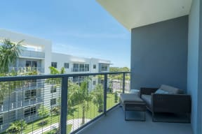 Outdoor Living Space at Allure by Windsor, 6750 Congress Avenue, Boca Raton, Florida