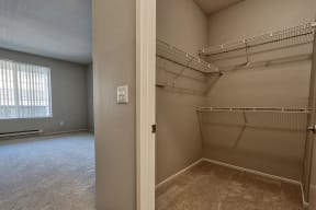 Walk-In Closets with Built-in Shelving at Allegro at Jack London Square, 240 3rd Street, CA