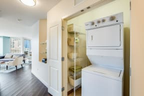 Full-Size Washers and Dryers at Flair Tower, 222 W. Erie Street, IL