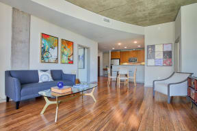 Hardwood/Bamboo Flooring In Apartments at Glass House by Windsor, 2728 McKinnon Street, TX