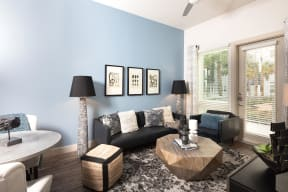 Ceiling fans in each apartment at Metro West, Plano, 75024