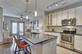 Modern Kitchen with Granite Countertops at Windsor Old Fourth Ward, 30312, GA