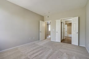 Wall-To-Wall Carpeting in Spacious Bedroom at Pavona Apartments, San Jose, CA