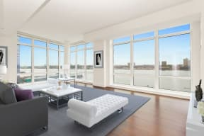 Floor-To-Ceiling Windows at The Aldyn, 60 Riverside Blvd., New York, NY 10069