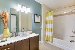 Spa-Inspired Bathrooms with Large Soaking Tub at Vox on Two, Massachusetts, 02140