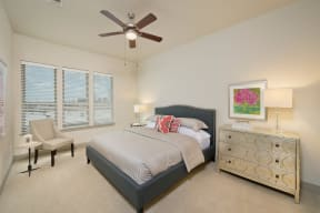 Large Bedroom with Plush Carpeting Windsor at West University, Texas, 77005
