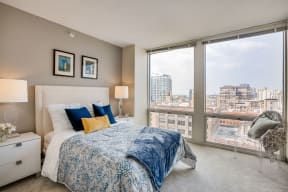 Gorgeous Views from Bedroom at Flair Tower, 222 W. Erie Street, Chicago