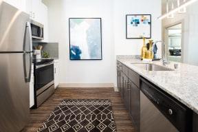 Modern kitchen fixtures at Metro West, Texas, 75024