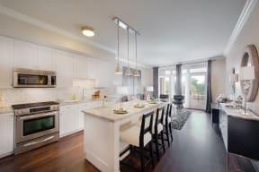 Upscale Stainless Steel Kitchen Appliances at The Woodley, 2700 Woodley Road, NW, Washington, DC