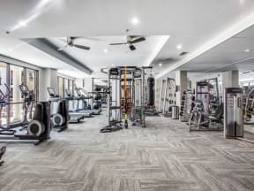 Newly renovated fitness center at The Monterey by Windsor, 3930 McKinney Avenue, TX