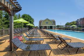 Poolside Sundeck at Windsor Village at Waltham, 976 Lexington Street, MA
