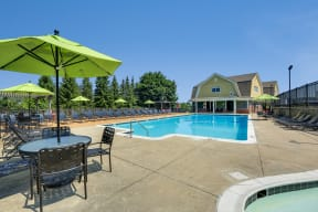 Pool Side Relaxing Area at Windsor Village at Waltham, 976 Lexington Street, Waltham