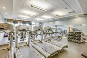 Cardio Equipment and Free Weights at Windsor Village at Waltham, 02452, MA