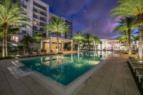Pool and Sundeck at Allure by Windsor, Boca Raton, FL