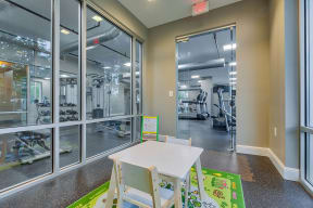 Kids room in fitness center at The Ridgewood by Windsor, Virginia, 22030