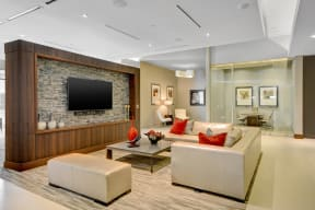 Resident Lounge with TV and Comfy Furniture at Windsor at West University, Texas, 77005