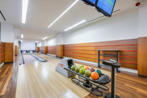 Bowling alley at The Aldyn, New York, New York