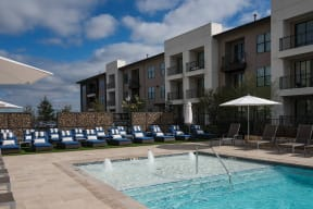 Tanning Ledge in Pool at Windsor Oak Hill, 6701 Rialto Blvd, TX