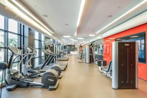 Fully-Equipped Fitness Center at Malden Station by Windsor, 250 W Santa Fe Ave, Fullerton