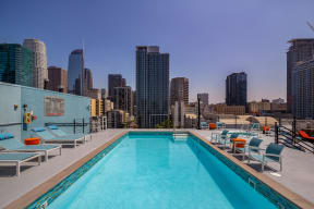 Pool with Stunning LA views at Renaissance Tower, Los Angeles, 90015