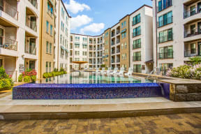 Expansive indoor and outdoor amenity spaces at The Monterey by Windsor, 3930 McKinney Avenue, Dallas