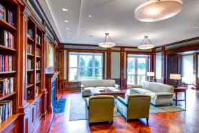 Ample Sitting Space In Clubroom at The Woodley, 2700 Woodley Road, NW, Washington, District of Columbia