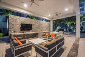 Outdoor Lounge Space with TV at Allure by Windsor, Florida, 33487