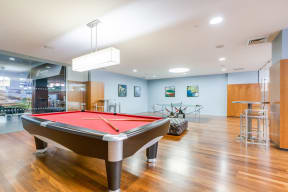 Recreation Room with Billiards Table at The Aldyn, NY, 10069