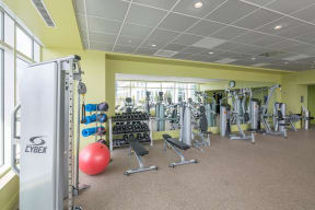 Fully-Equipped Fitness Center at Waterside Place by Windsor, Boston, MA