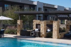 Poolside Cabanas at Windsor Oak Hill, Austin, TX