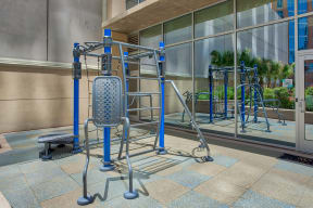 Synrgy360 System Featured In Fitness Center at Glass House by Windsor, Dallas, Texas