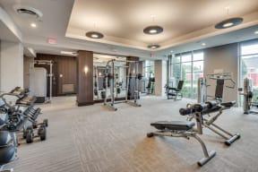 Expansive Fitness Center at Windsor at West University, 2630 Bissonnet Street, TX
