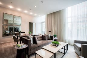 Expansive amenity spaces at Waterside Place by Windsor, 505 Congress St, Boston