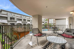 Deck Overlooking Courtyard at Dublin Station by Windsor, 5300 Iron Horse Pkwy, Dublin