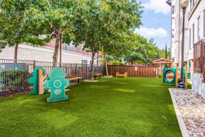 Urban pet park with pet washing station at The Monterey by Windsor, Dallas, 75240