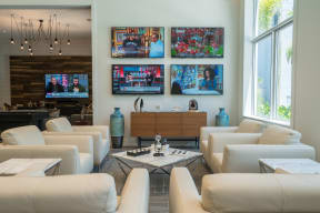 Elegant Clubhouse with 5 TVs at Allure by Windsor, Boca Raton, FL