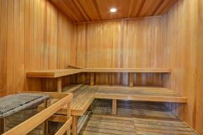 Sauna at Windsor at Hancock Park, 445 North Rossmore Avenue, CA