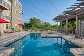 Swimming pool and spa at Vox on Two, 223 Concord Turnpike, Cambridge