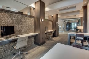 E-Lounge With Wifi Access at Windsor at West University, Houston, Texas